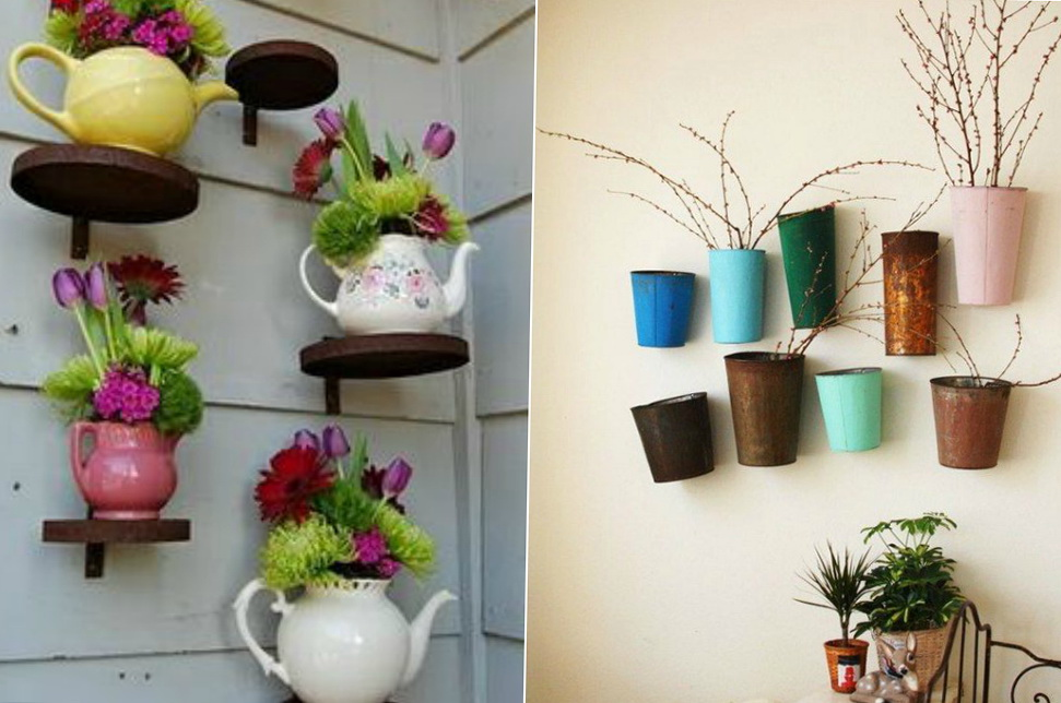 Living room decoration flower pots ideas 1