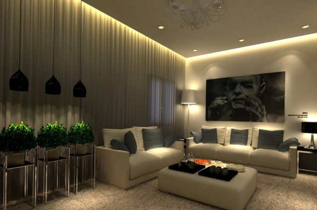 living room decoration lighting ideas 44